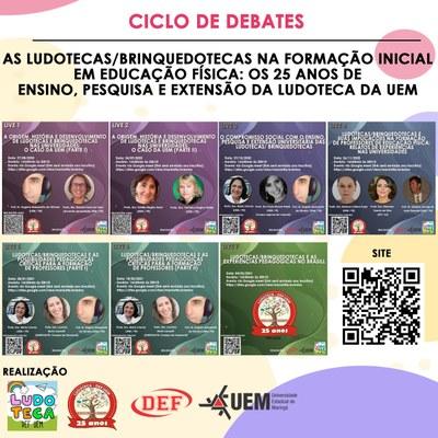 Imagem - Evento de Extensão: Ciclo de Debates - As Ludotecas/Brinquedotecas - Palestras Detalhadas