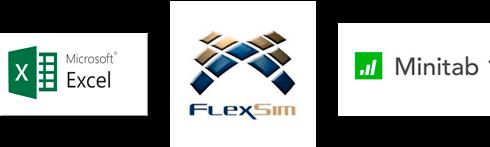 Excel-FlexSim-Minitab