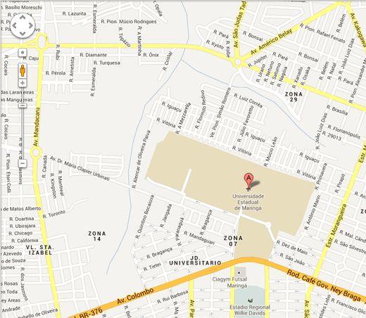 Mapa da UEM