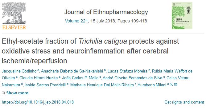 """Publicação no Periódico """"Journal of Ethnopharmacology"""""""