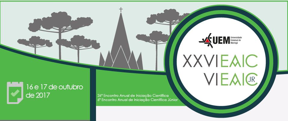XXVI Encontro Anual de Iniciação Científica e VI Encontro Anual de Iniciação Científica Júnior