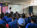Ações do Projeto Tabagismo em Bataguassu-MS! Cerca de 500 alunos participaram das palestras!